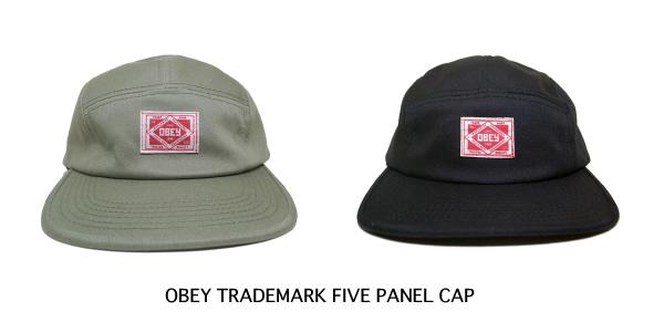 OBEY TRADEMARK FIVE PANEL CAP