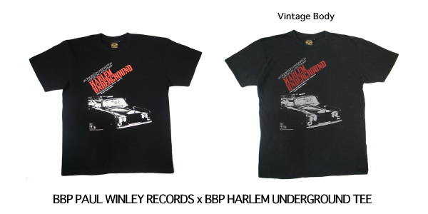 BBP PAUL WINLEY RECORDS x BBP HARLEM UNDERGROUND TEE