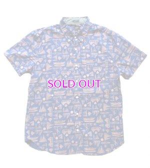 画像1: J.CREW Slim short-sleeve printed shirt