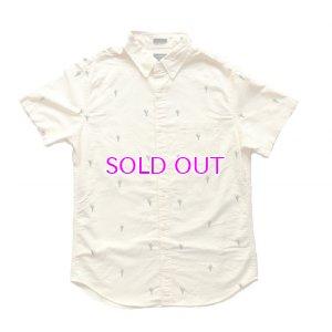 画像1: J.CREW Slim short-sleeve printed oxford shirt