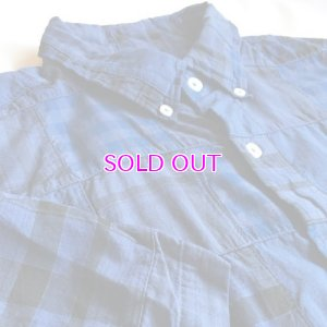 画像3: J.CREW Short-sleeve Indian madras shirt in blue patchwork