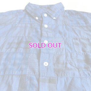 画像2: J.CREW Short-sleeve Indian madras shirt in blue patchwork