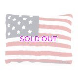 POLO RALPH LAUREN USA FLAG KNIT PILLOW
