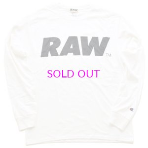 画像1: RAW BIG LOGO L/S T-SHIRT(CHAMPION®)