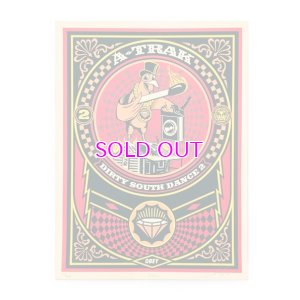 画像1: OBEY DJ A-TRAK DIRTY SOUTH DANCE 2 SILK SCREEN POSTER (Limited)