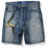 Lafayette 5 POCKET SELVAGE WASHED DENIM SHORTS - STANDARD FIT -