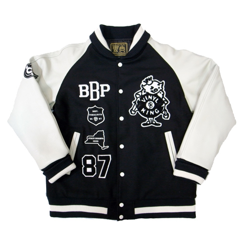 BBP VARSITY JACKET 5th MODEL[BLACK/WHITE]