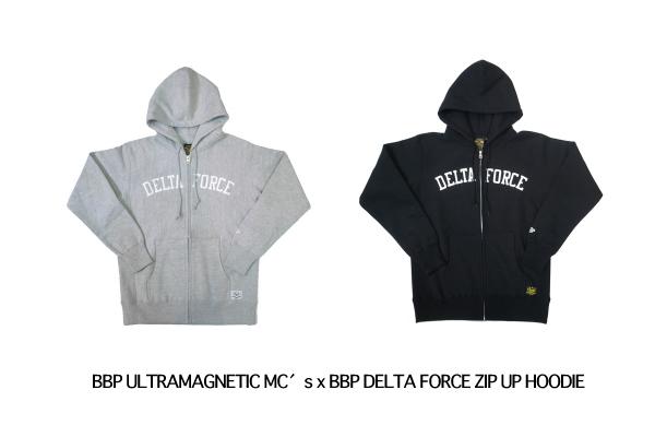 BBP ULTRAMAGNETIC MC′s x BBP DELTA FORCE ZIP UP HOODIE