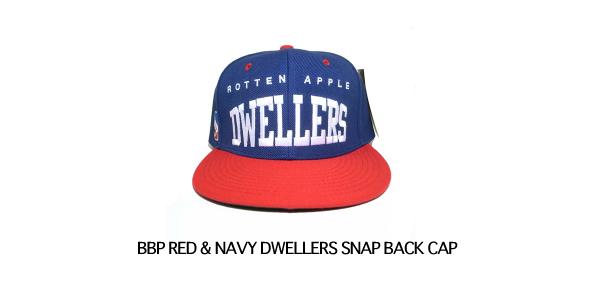 BBP RED & NAVY DWELLERS SNAP BACK CAP