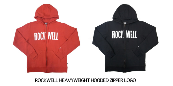 ROCKWELL HEAVYWEIGHT HOODED ZIPPER LOGO
